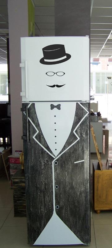 """Рекламен рисуван хладилник """"Либхер"""""""