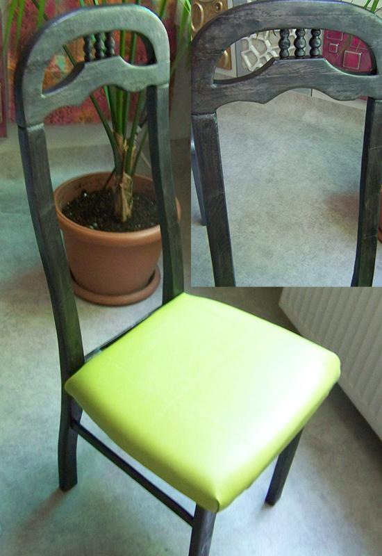 Специална обработка с ефект на обгорен стол