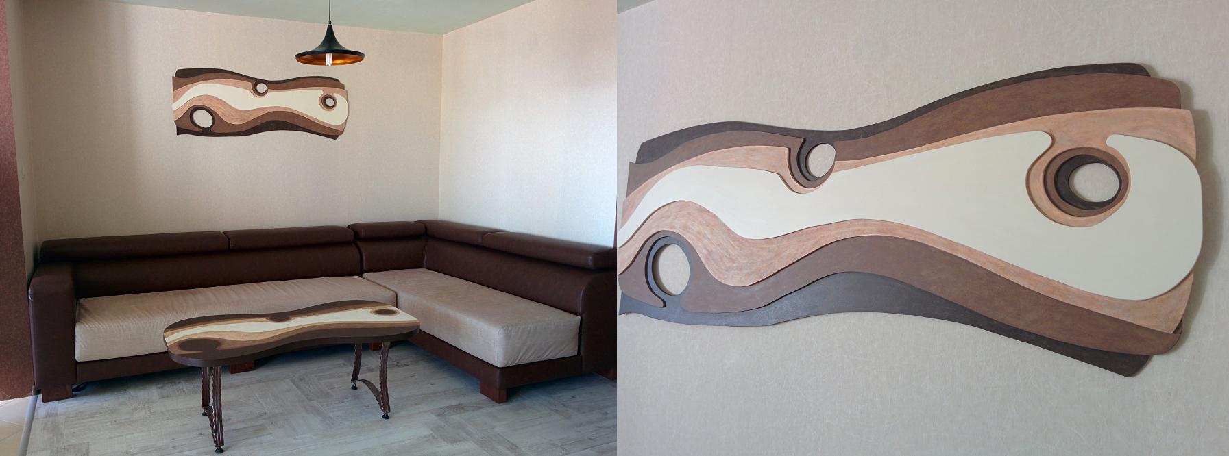 Проектиране и изработка на мебели, арт мебели и аксесоари за интериора на дневна