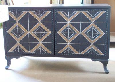 Шкаф с прабългарски мотиви, с релефни рисунки