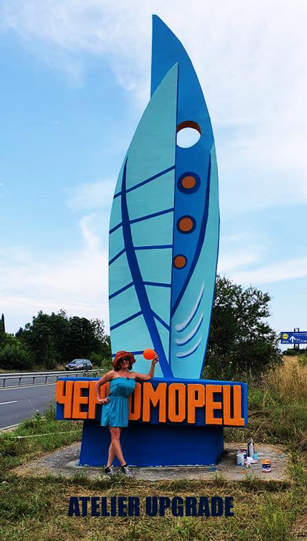 Ексклузивно боядисване на символа на град Черноморец