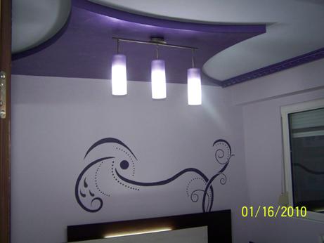 Спалня с рисунка на стена