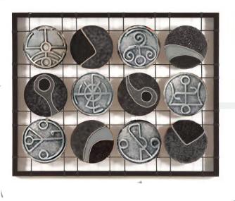 Рисувано пано с прабългарски символи
