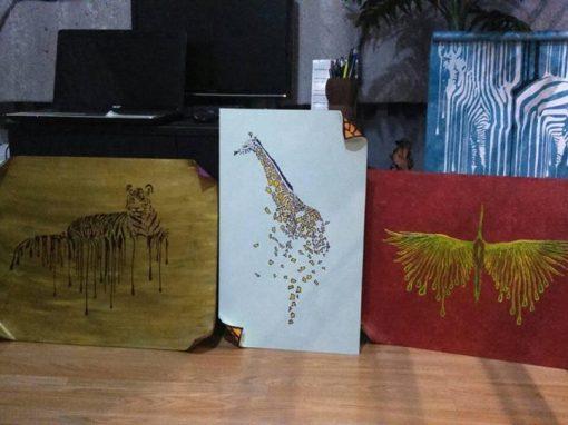 Ръчна изработка на рисувани пана и картини